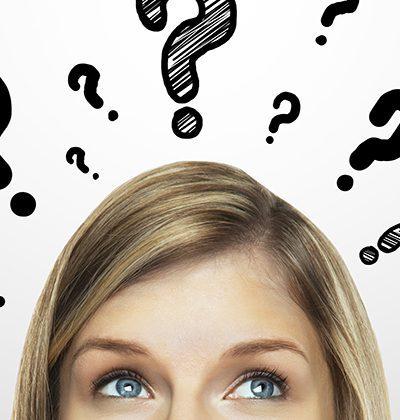 question mark woman